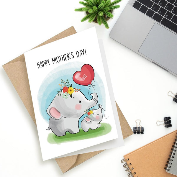 Tender Mother - Greeting Card