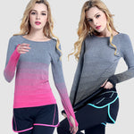 Women Gradient Long Sleeve T-Shirt