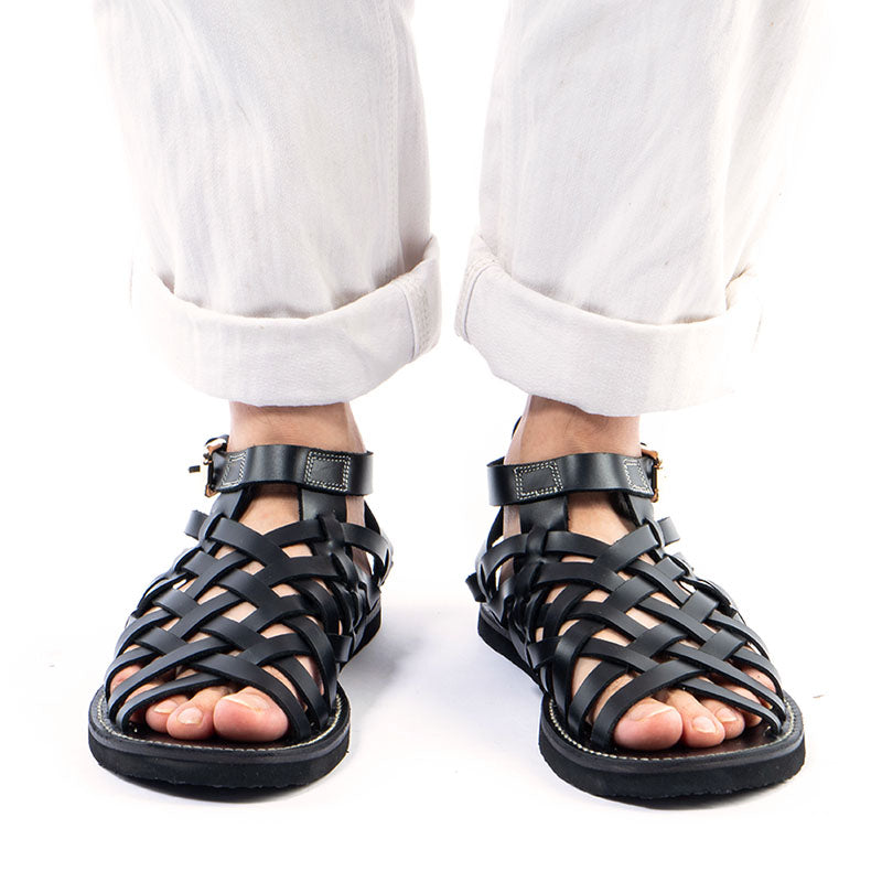 Hand-Knitted  Leather Sandals