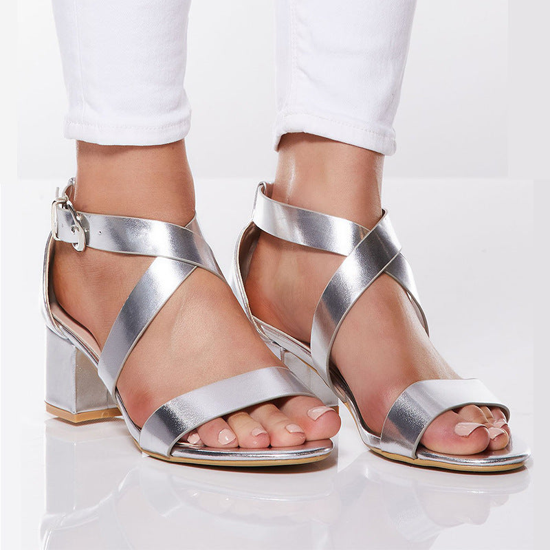 Summer Fashion Cross Strap Sandals