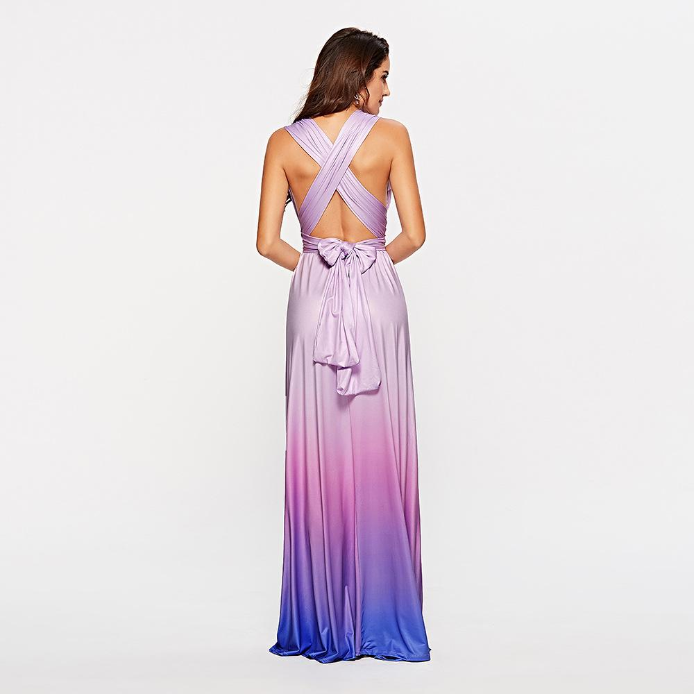 Crossed Backless Sexy Gradient Dress (Multiple Styles)