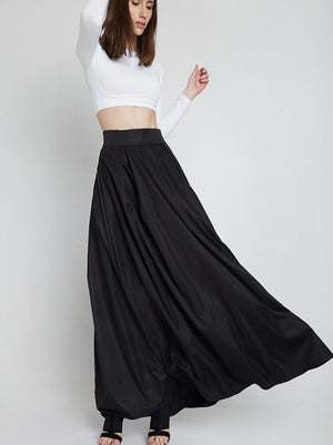 Black  Long Overskirt