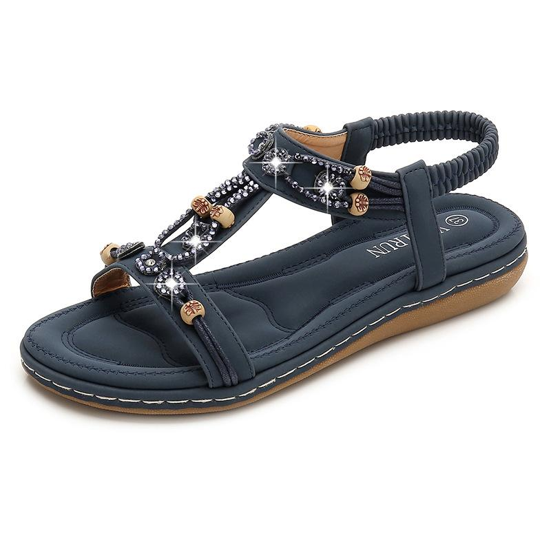 Women Bohemian Rhinestone Sandals
