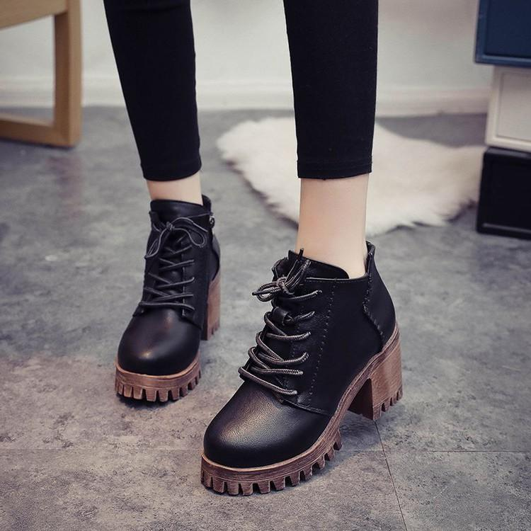 Women Vintage Lace Ankle Martin Boots