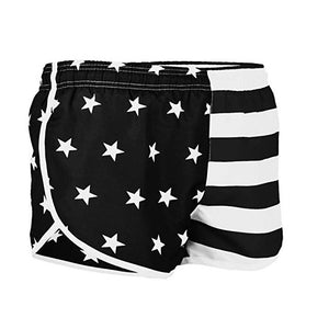 Men's American Flag Side Split Running Shorts