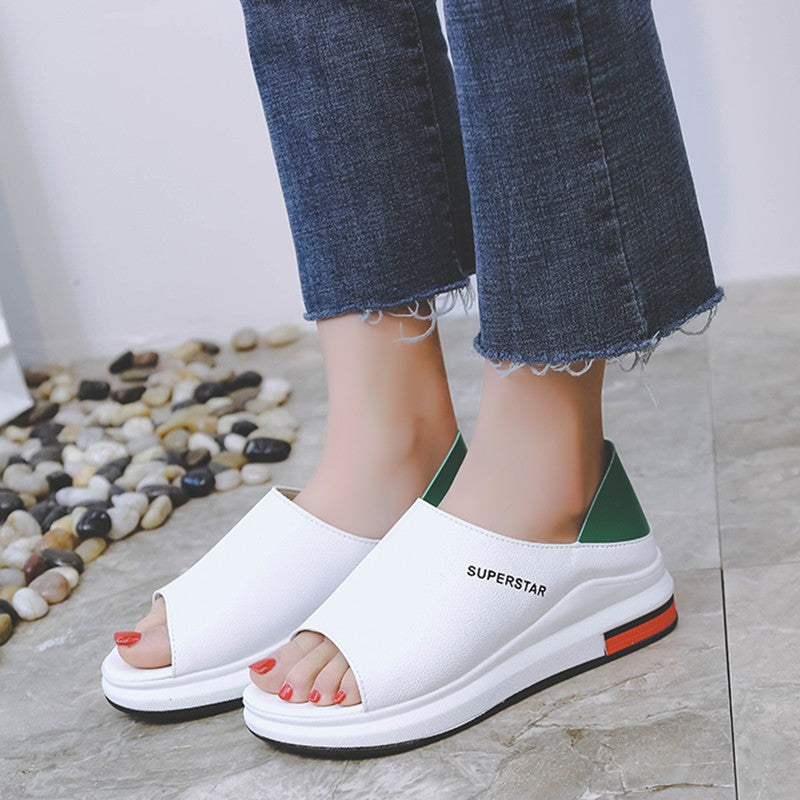 2019 New Fashion Platform Peep Toe Sandal Shoes