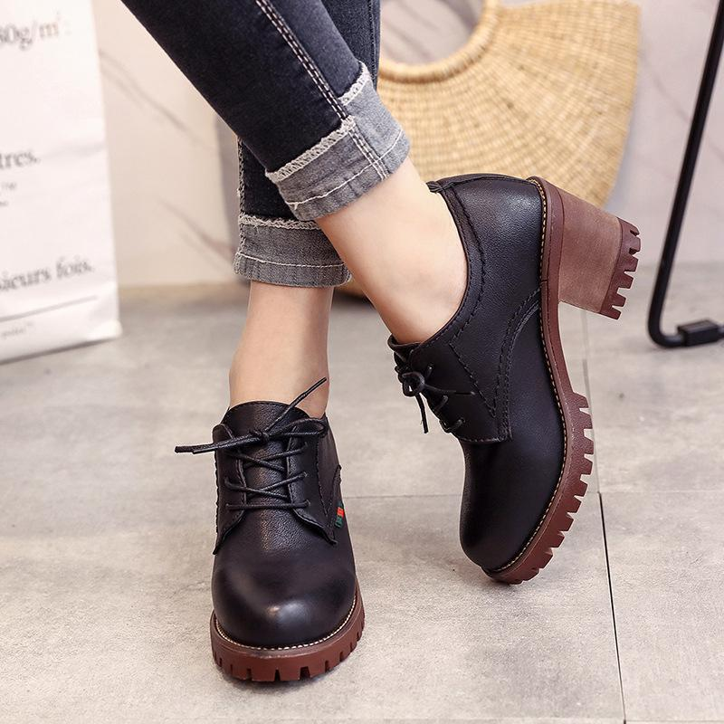Women High Heel Round Head  Boots