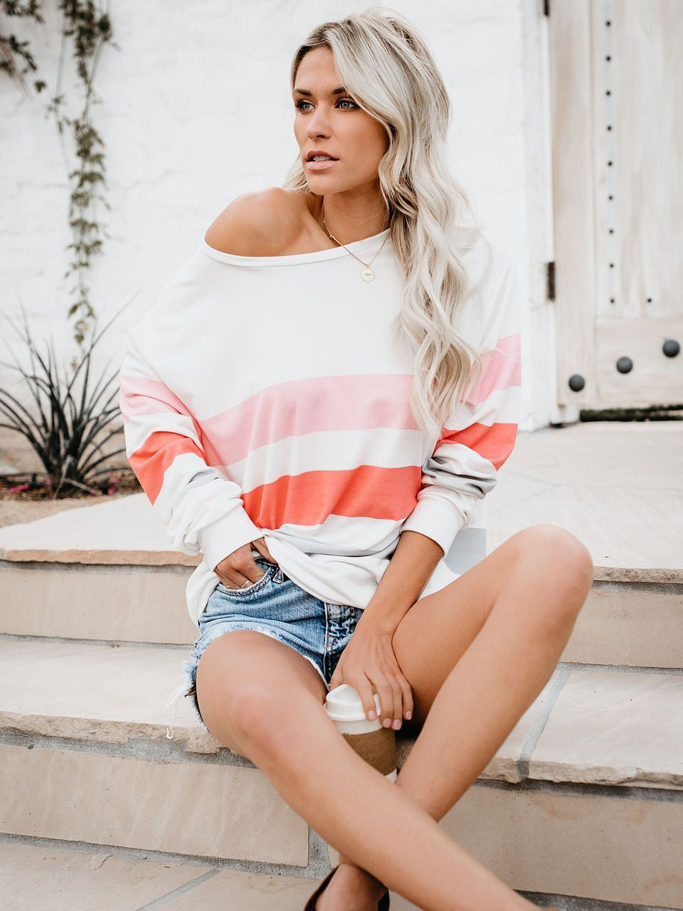 Summer Loose Striped Pullover