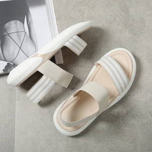 2019 Casual Round Head Elastic Sandals