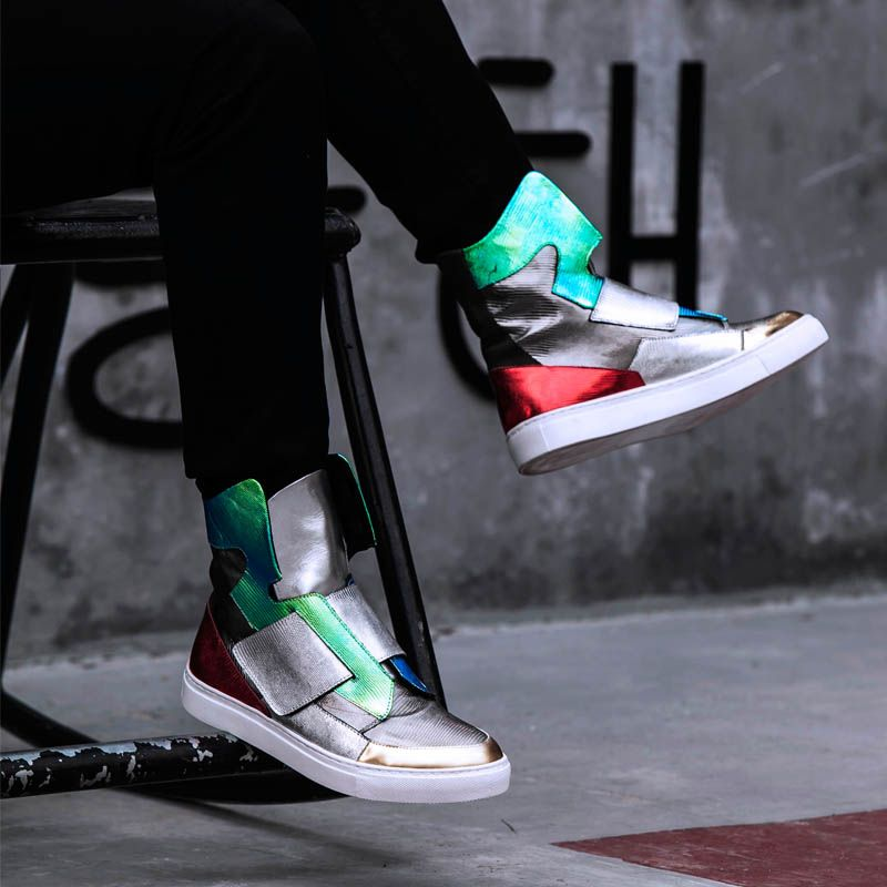 Men's High-top Leather Street Shoes