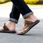 Summer Men Casual Genuine Leather Sandals