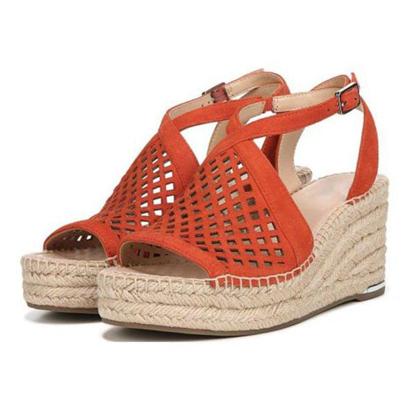 Hollow Wedge Sandals