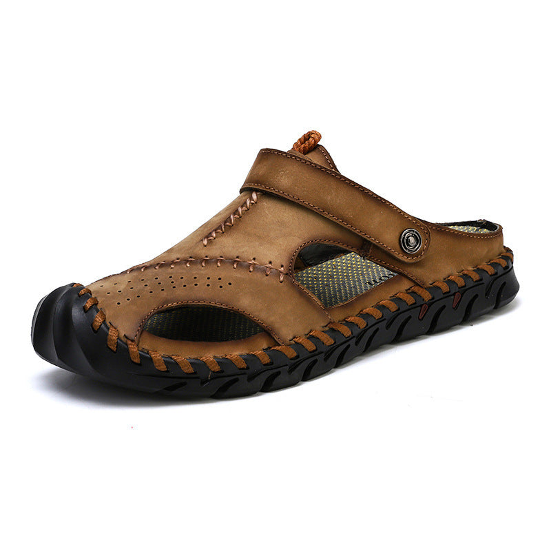 Men Beach Casual Leather Sandals