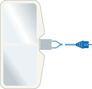 ERBE NESSYPlate 170, split, conductive area = 168 cm², with 3 m cable, Box of 50