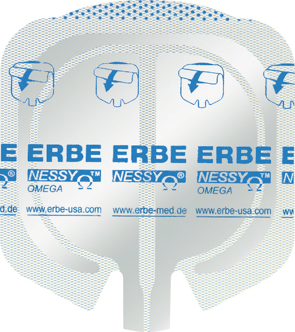 ERBE NESSY Omega Plate, (85+23) cm², without cable, Box of 50