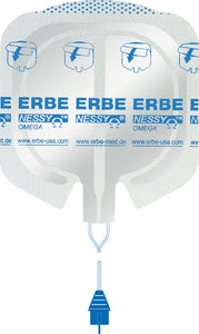 ERBE NESSY Omega Plate, (85+23) cm², cable 4 m long, Box of 50