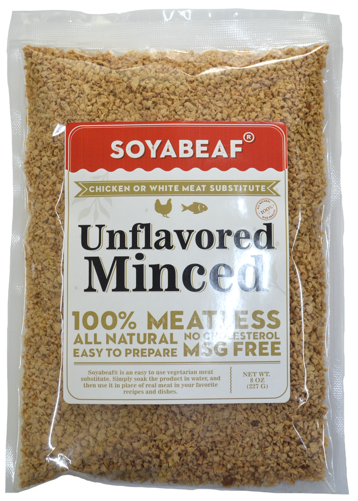 Soyabeaf® Unflavored Bits (Formerly Soyabeaf® Natural Minced) - Chicken or White Meat Substitute