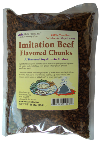Imitation Beef Flavored Chunks (Small)