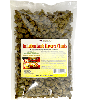 Imitation Lamb Flavored Chunks (TVP)