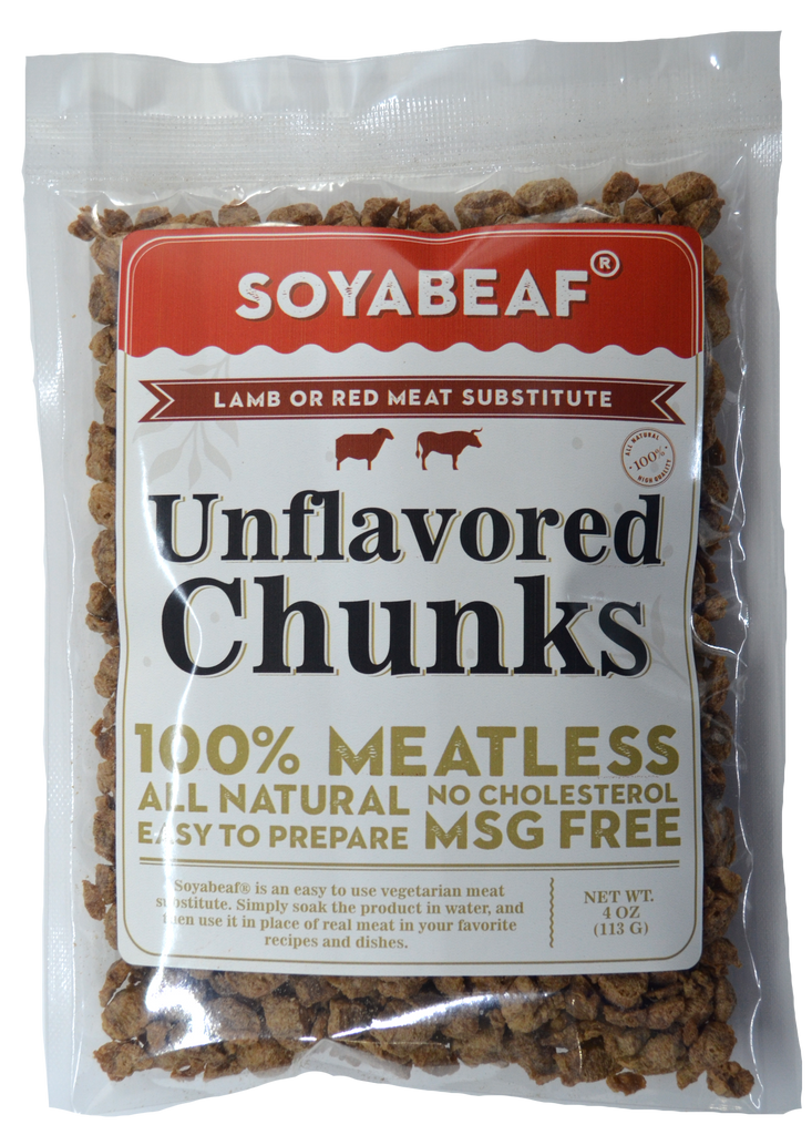 Soyabeaf® Unflavored Chunks - Beef or Red Meat Substitute