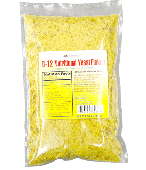 B-12 Nutritional Yeast Flakes - Vegetarian Supplement Formula