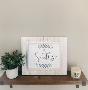 Custom family name | House warming, wedding gift