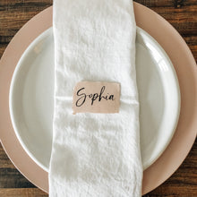 Load image into Gallery viewer, Place card | Brush lettering | Blush deckled edge paper