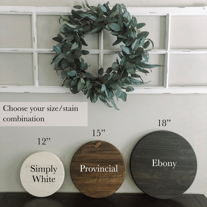 Custom wood sign | wood round