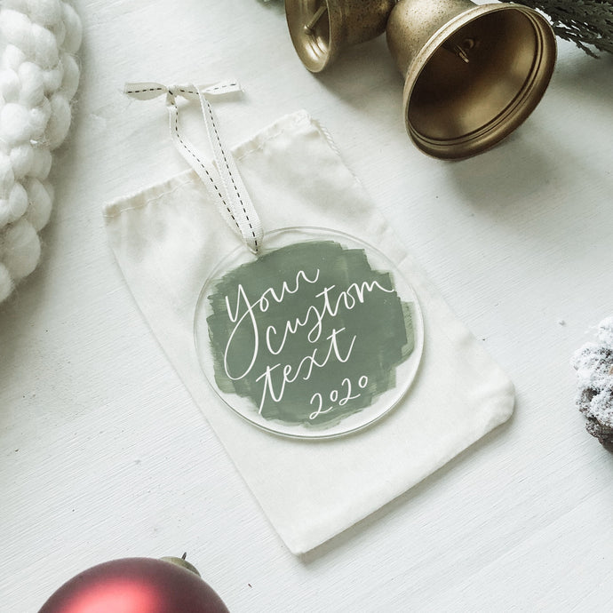 Custom text ornament