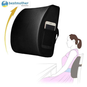 Memory Foam Seat Chair Lumbar Back Support Cushion for Office Home Car
