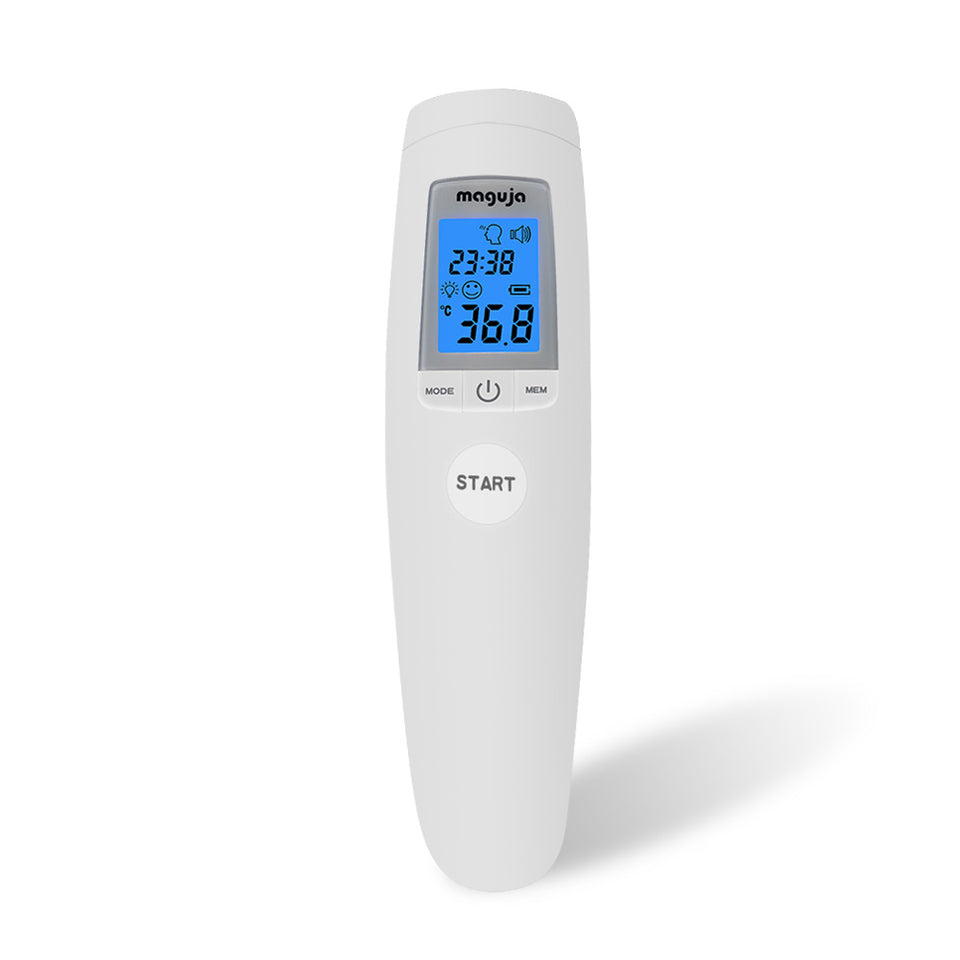 Digital Forehead Infrared Thermometer Body/Object Portable Non-contact Temperature Measure IR Device Voice alarm Fever