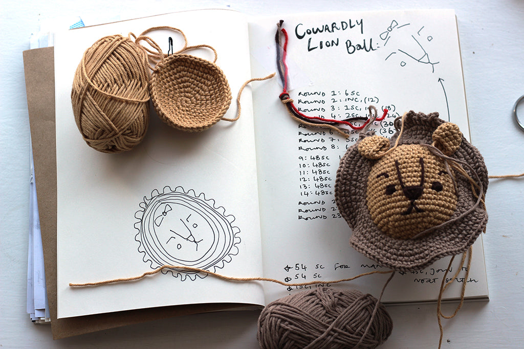 crochet design sketchbook