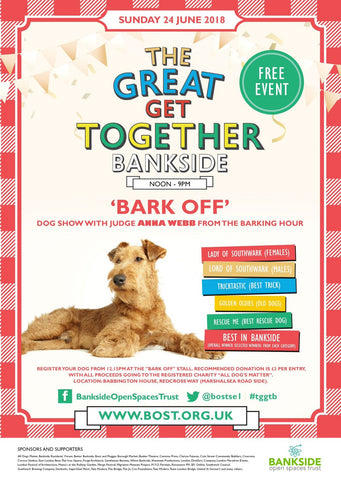 "the great get together ""bark off"" dog show"