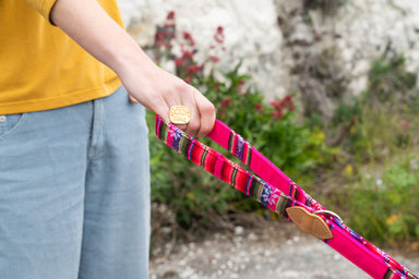 Inca Pink Hands Free (Coupler) Dog Lead