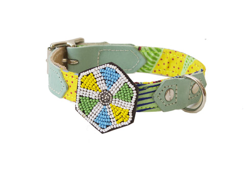 Beaded Hexagon Collar Accessory