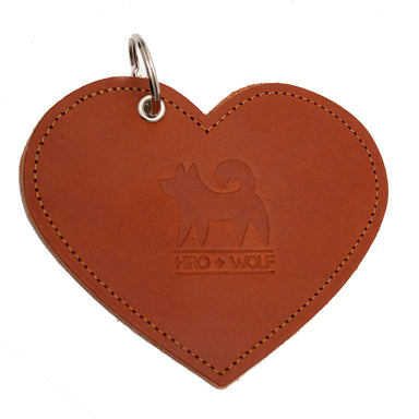 Poo Pouch Heart 'Brown Leather'