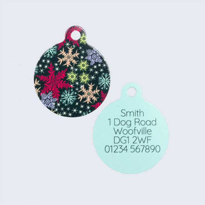 'Christmas Snowflakes' Pet Tag