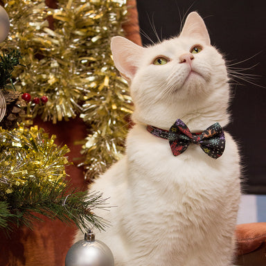 Christmas Snowflakes Cat Bow Tie