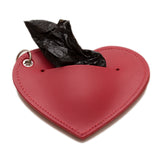Heart Poo Pouch Cardinal Red