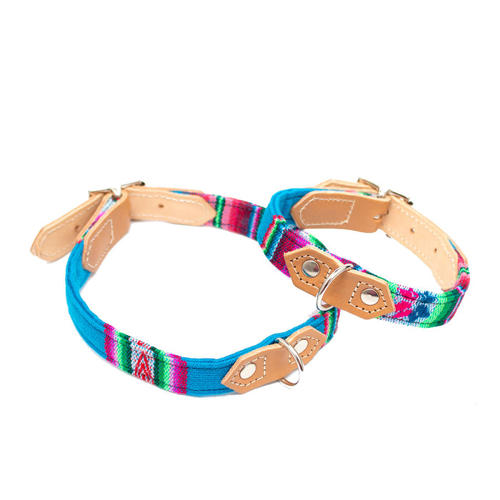 Inca Blue Dog Collar
