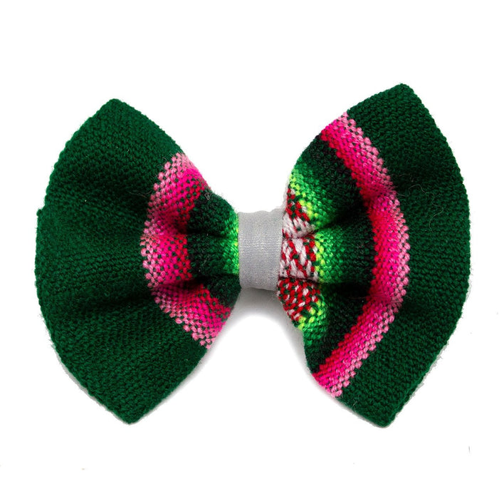 Inca Holly Dog Bow Tie