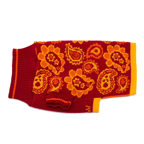 Artisans & Adventurers X Hiro + Wolf Dog Jumper 'Orange Paisley'