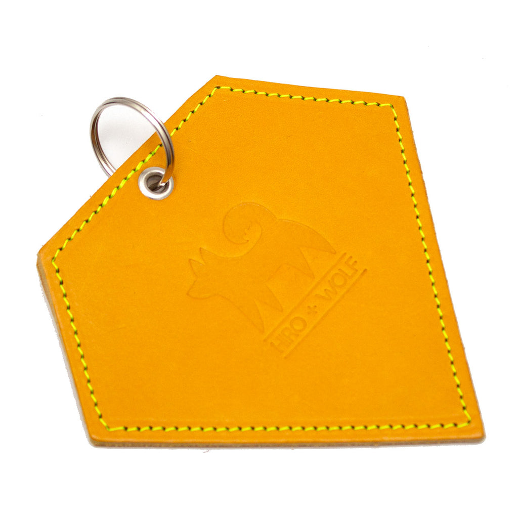 Poo Pouch Diamond 'Yellow Leather'