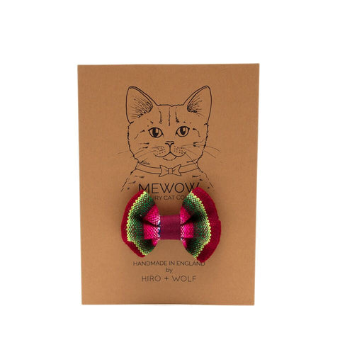 Berry Inca Cat Bow Tie