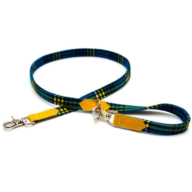 Hiro + Wolf Blue Shuka Tartan Cafe Dog Lead