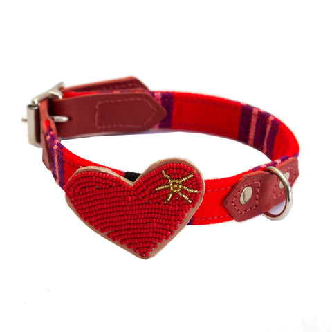 Beaded Heart Collar Accessory