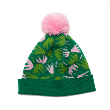 Combs Knitted Bobble Hat