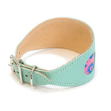 Hiro + Wolf Blue Leather Dog Collar