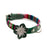 Hiro + Wolf Green Reflective Flower Dog Collar Accessory