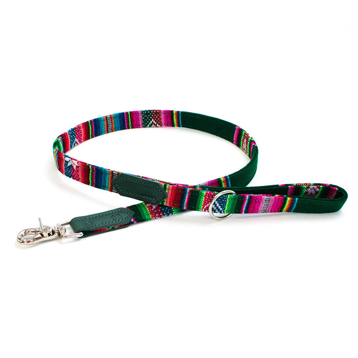 Hiro + Wolf Inca Holly Green Classic Dog Lead